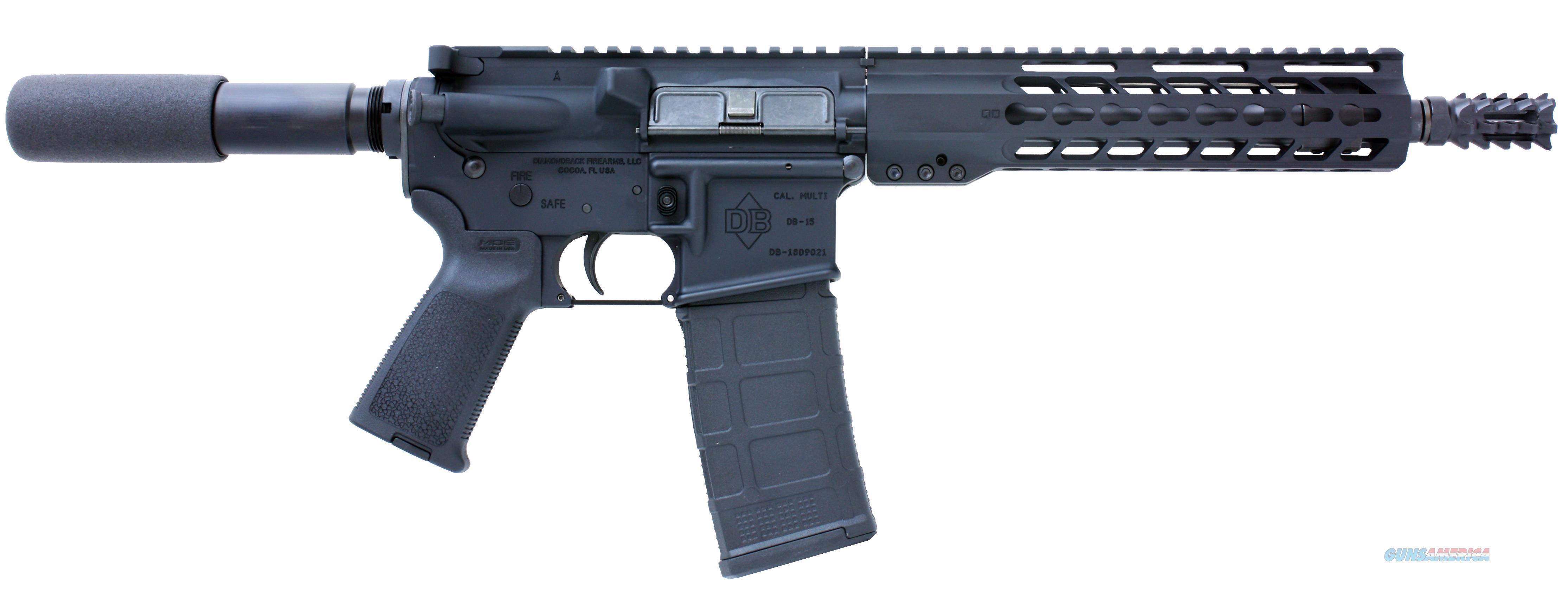 "Diamondback Db15pb10 Db15 Ar Pistol Pistol Length Semi-Automatic 223 Remington/5.56 Nato 10.5"" 30+1  Black Hard Coat Anodized DB15PB10  Guns > Pistols > D Misc Pistols"