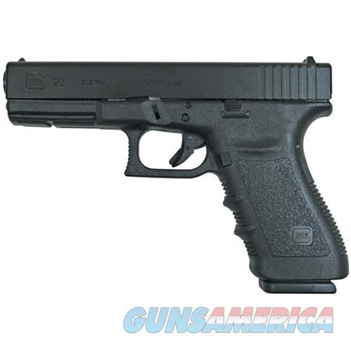 Glock G20 Short Frame Semi Auto Pistol 10Mm, 4.6 In, Poly Grp, 15+1 Rnd, Fixed, Full Sz Blk Frame PF2050203  Guns > Pistols > G Misc Pistols