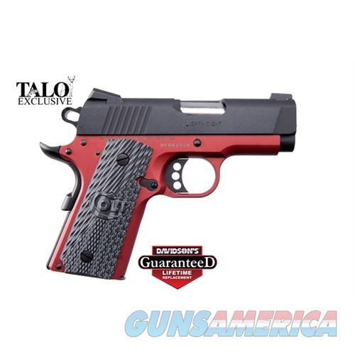 Colt Defender 45Acp 3 Red Frame Blued Slide O7800XE-AR  Guns > Pistols > C Misc Pistols