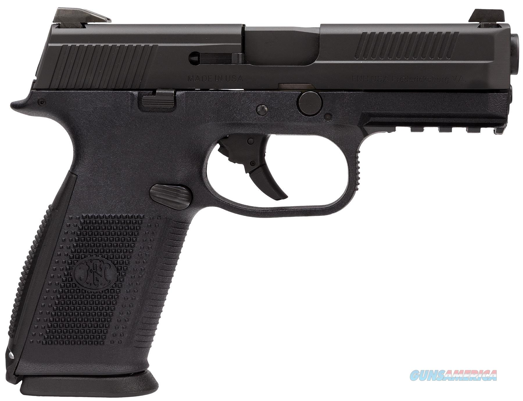 "Fn 66760 Fns40 No Manual Safety Fxd 3 Dot 40S&W 4"" 14+1 3 Mags Blk Poly/Blk 66760  Guns > Pistols > F Misc Pistols"