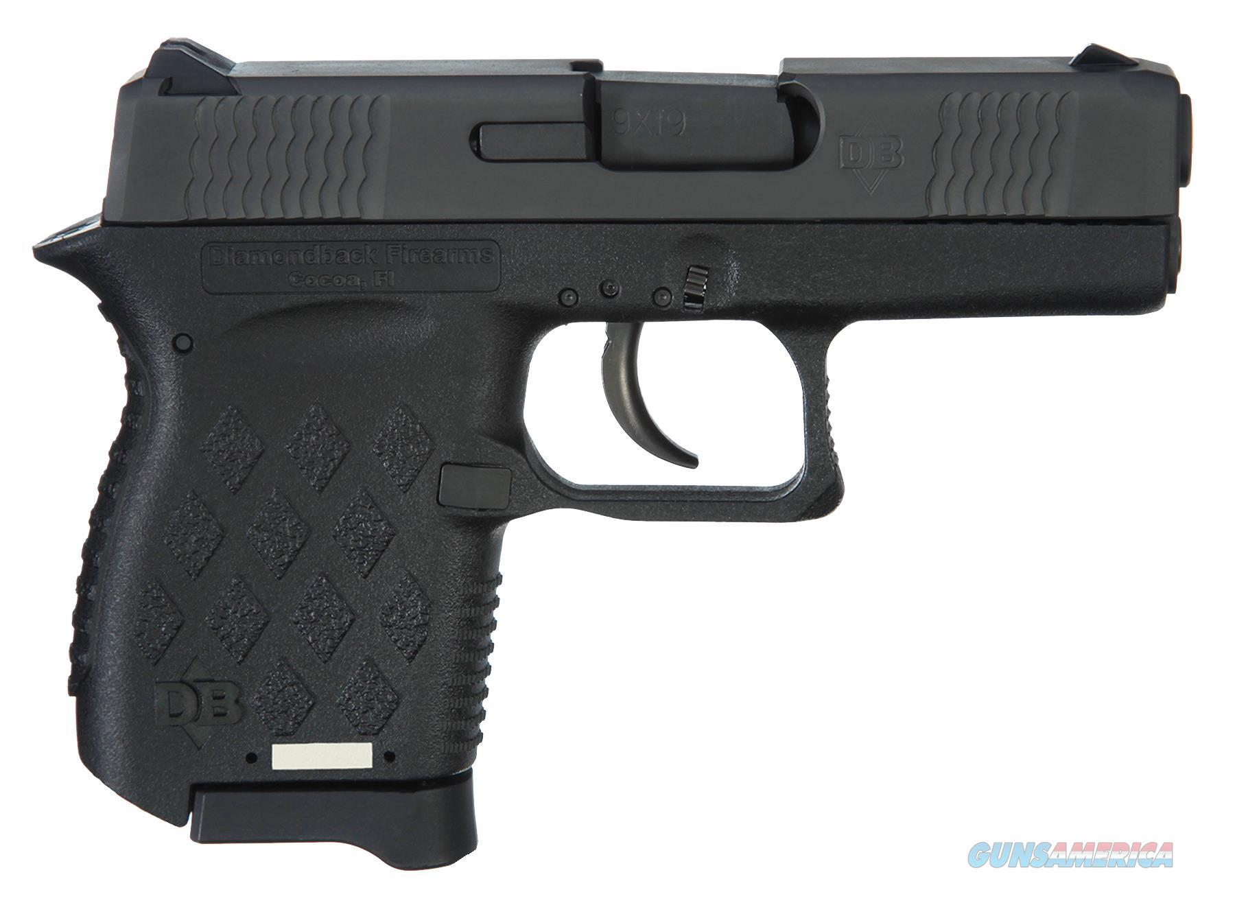 "DIAMONDBACK DB9NS MICRO-COMPACT DAO 9MM 3"" 6+1 NS POLY GRIP/FRAME BLACK DB9NS  Guns > Pistols > Diamondback Pistols"