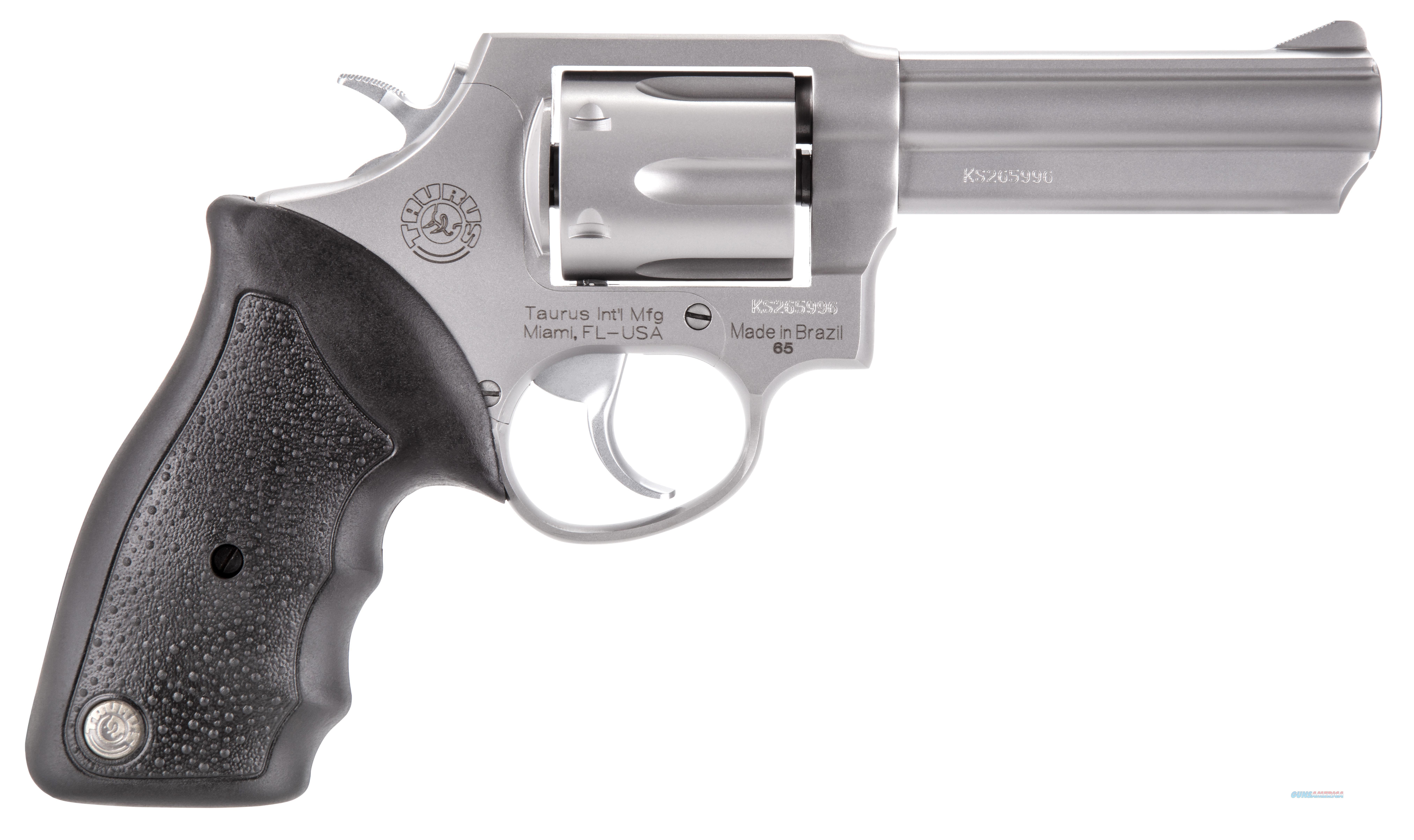 "Taurus 2650049 65 Single/Double 357 Magnum 4"" 6 Rd Black Rubber Grip Stainless Steel 2-650049  Guns > Pistols > TU Misc Pistols"