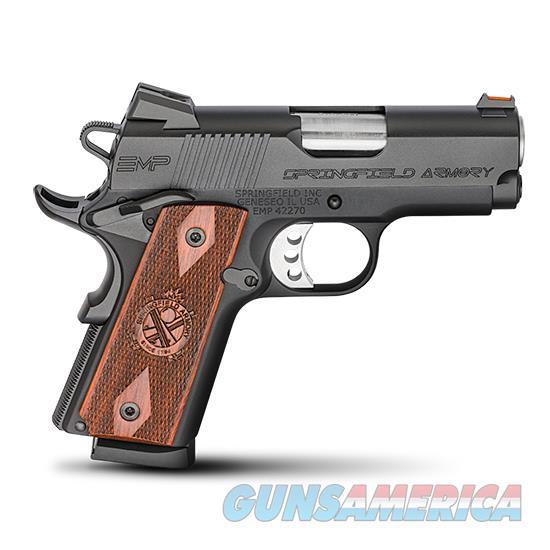 Springfield Armory 1911 Emp 9Mm Compact All Blk Cocobolo Grips PI9208L  Guns > Pistols > S Misc Pistols