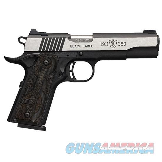 Browning 1911 380Acp Black Label Medallion Pro Ns 2 051935492  Guns > Pistols > B Misc Pistols