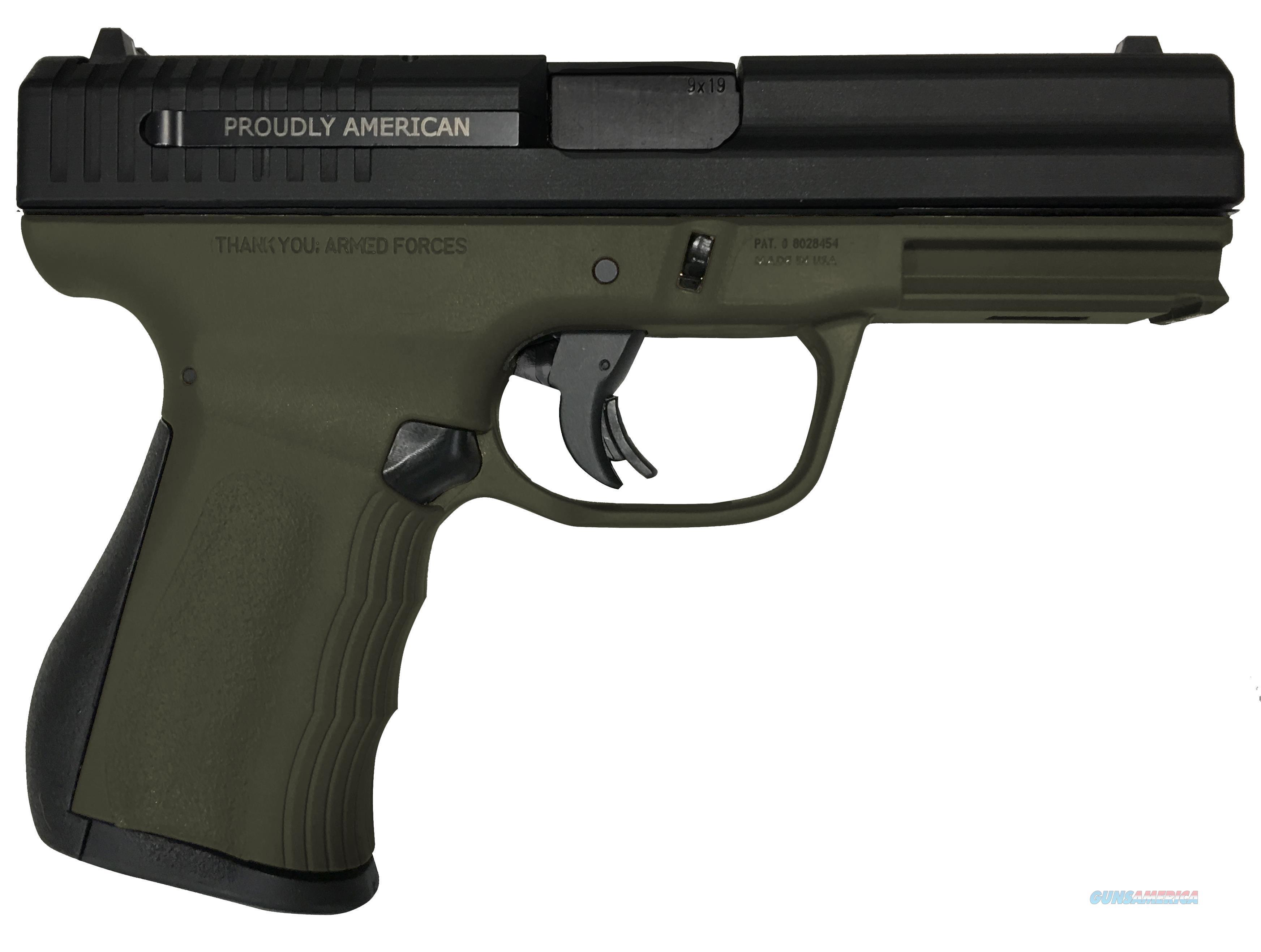 """Fmk Firearms G9c1g2od 9C1 G2 Fat Single 9Mm Luger 4"""" 14+1 Od Green Polymer Grip/Frame Black Carbon Steel FMKG9C1G2OD  Guns > Pistols > F Misc Pistols"""
