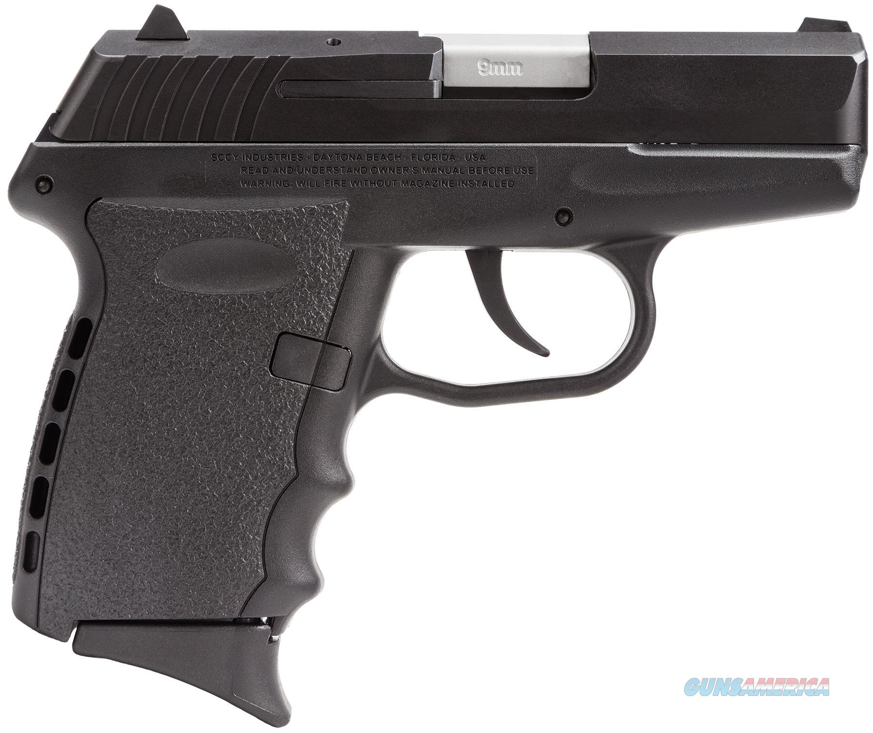 """Sccy Industries Cpx2cb Cpx-2 Double 9Mm 3.1"""" 10+1 Black Polymer Grip/Frame Grip Black Nitride Stainless Steel CPX2CB  Guns > Pistols > S Misc Pistols"""