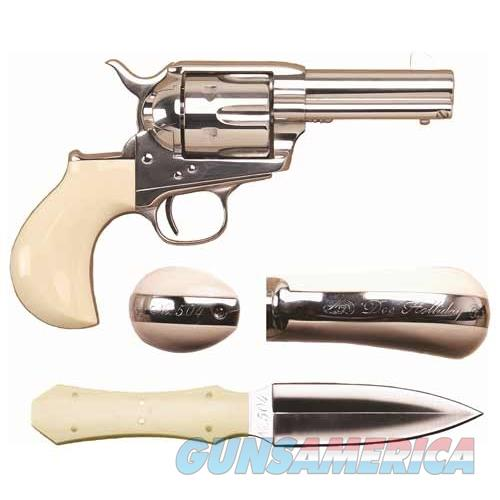 "Cimarron Firearms Doc Holliday Combo .45Lc Fs 3.5"" Nickel Tru-Ivory CA346DOC  Guns > Pistols > C Misc Pistols"