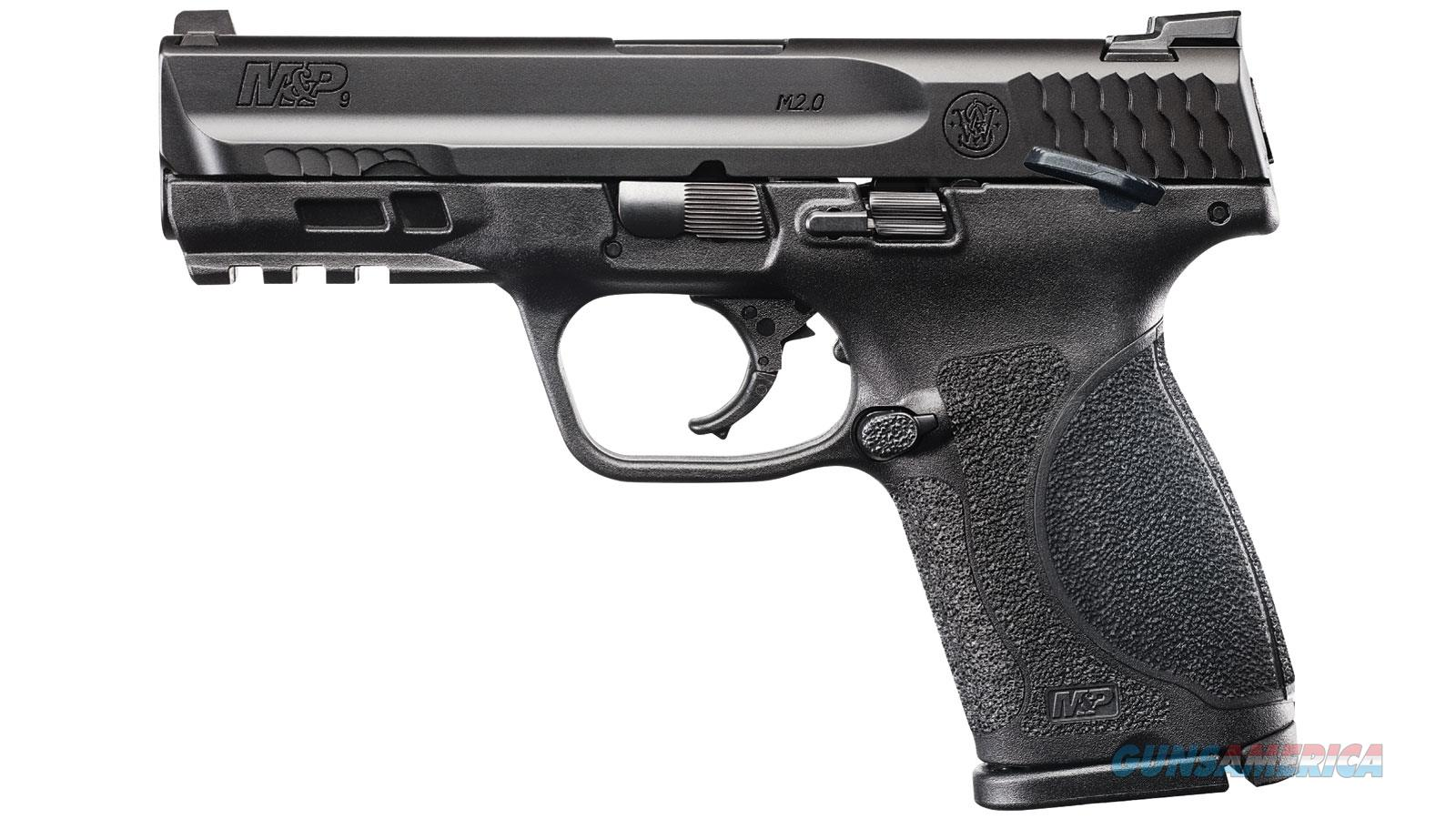 "Smith & Wesson M&P M2.0 Semi-Auto Pistol, Compact, 9Mm, 4"" Bbl, 15+1 Rnd, Thumb Safety, Extra Mag, 11686  Guns > Pistols > S Misc Pistols"