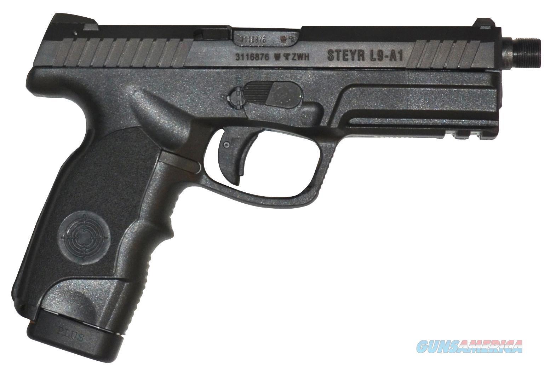 Steyr Arms Inc L9a1 9Mm Luger Black Fs 2-17Rd Mags Threaded Bbl 39.621.2KSD  Guns > Pistols > S Misc Pistols