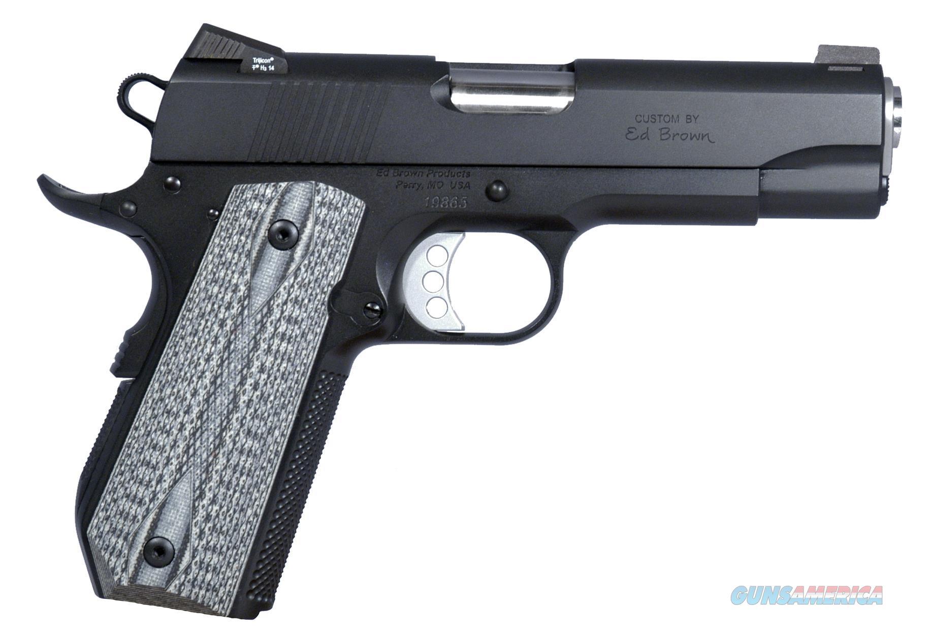"""Ed Brown Sfc3ssg4 Special Forces Carry Soa 45 Automatic Colt Pistol (Acp) 4.25"""" 7+1 Blk/Gray G10 Grip Blk Gen4 SFC3SSG4  Guns > Pistols > E Misc Pistols"""