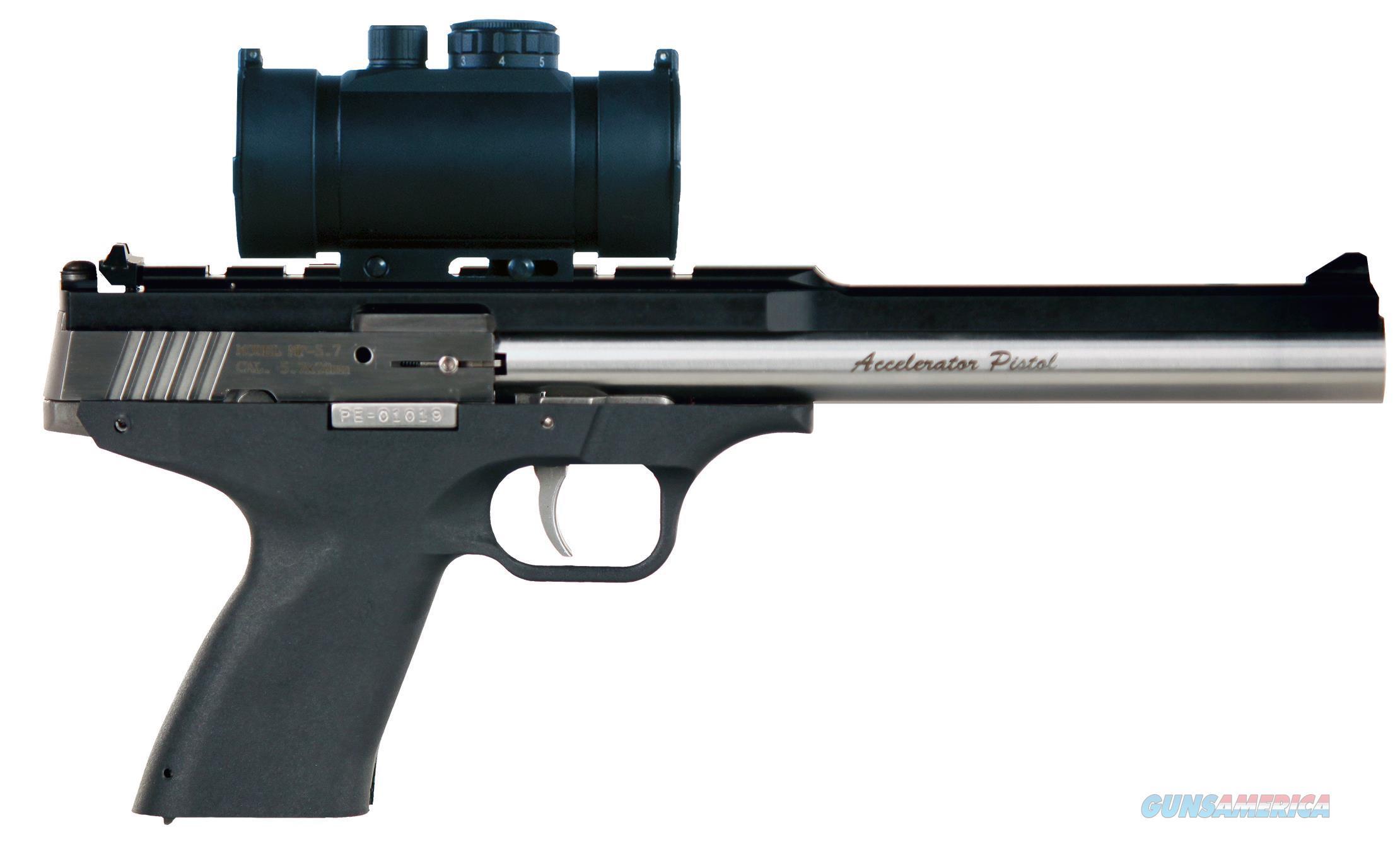 "Excel Ea57302 Accelerator Pistol Mp-5.7 Double 5.7Mmx28mm 8.5"" 9+1 Black Polymer Grip Red Dot Scope EA57302  Guns > Pistols > E Misc Pistols"