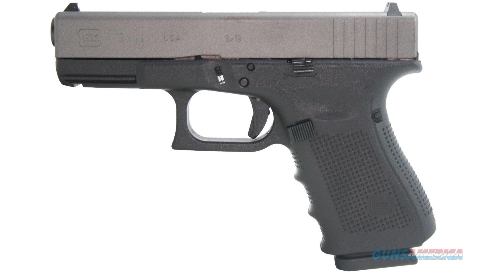 "Glock G19 Gen4 9Mm 4.4"" 15Rd UG1950204  Guns > Pistols > G Misc Pistols"