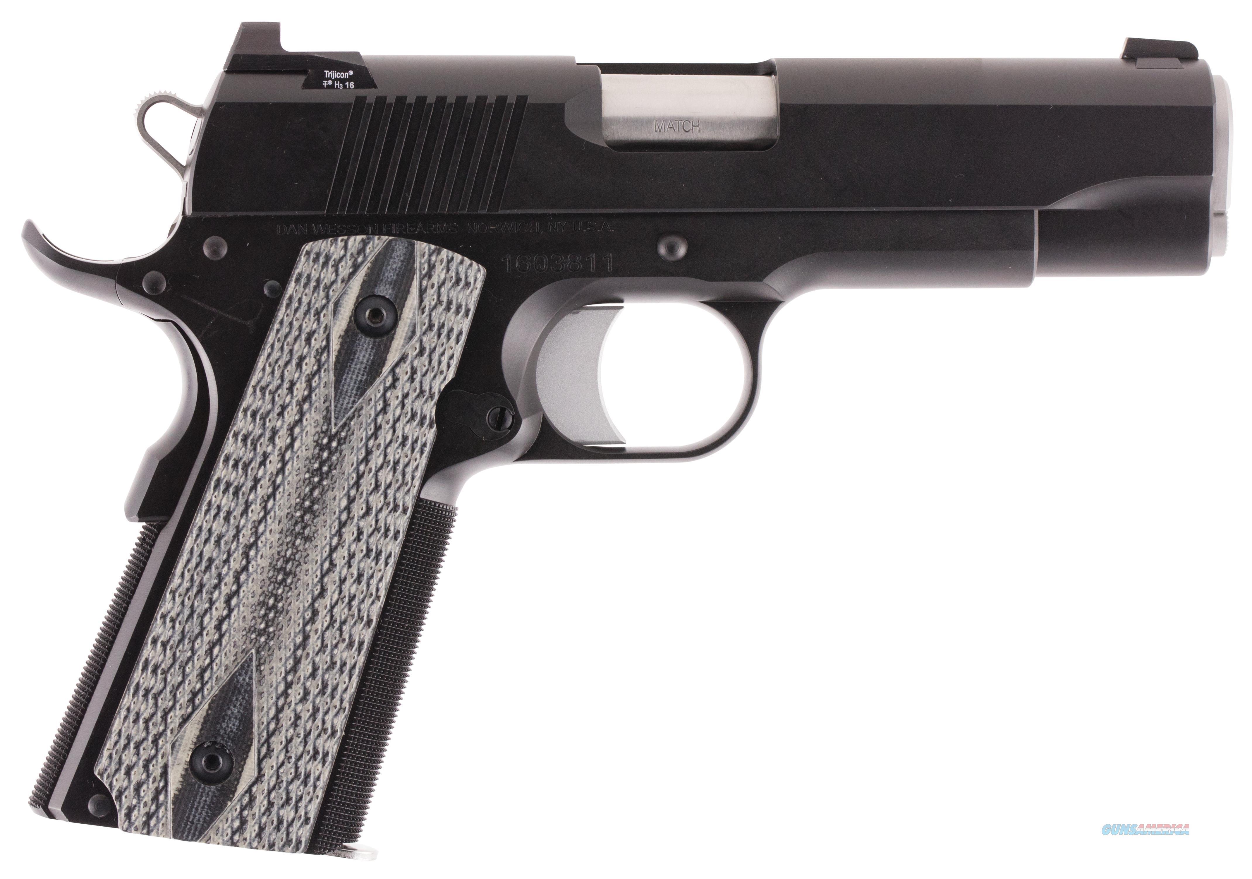 """Dan Wesson 01874 1911 Valor Commander Sa 45 Automatic Colt Pistol (Acp) 4.25"""" 8+1 Black 01874  Guns > Pistols > C Misc Pistols"""