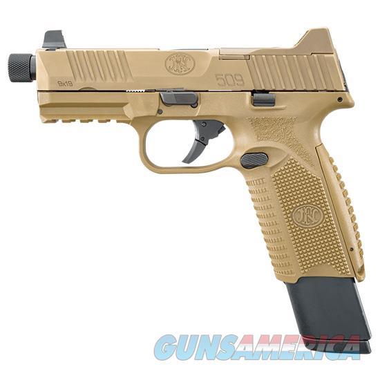 Fn America 509 Tactical 9Mm Fde 4.5 Thrd 1 17Rd 2 24Rd 66100373  Guns > Pistols > F Misc Pistols