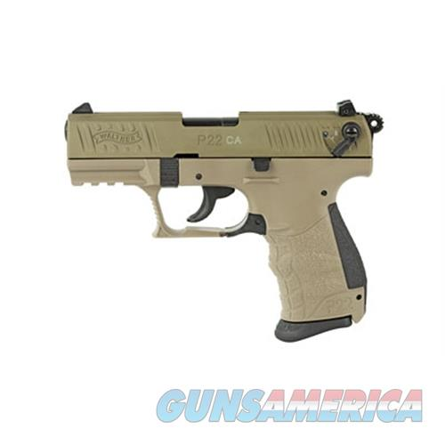 "Walther Arms P22 Ca .22Lr 3.42"" As 10-Shot Fde Slide Fde Frame 5120364  Guns > Pistols > W Misc Pistols"
