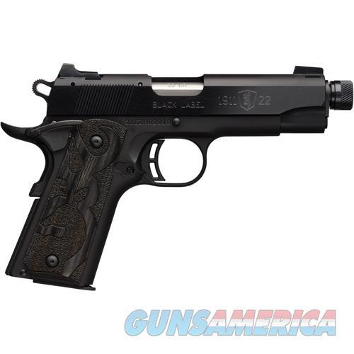 "Browning 1911-22 Supressor Ready Cmp .22Lr 4.25"" Fs M.Black Syn ! 051870490  Guns > Pistols > B Misc Pistols"