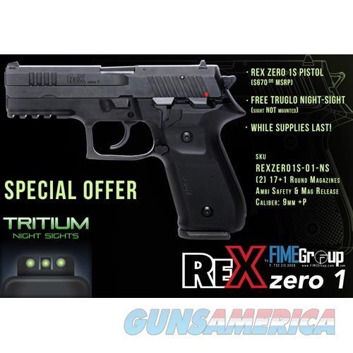 Arex Rex Zero 1S 9Mm Pistol Fs 2-17Rd Truglo Package REXZERO1S-01-NS  Guns > Pistols > A Misc Pistols