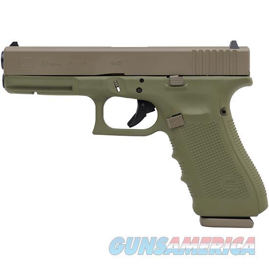 Glock 17 Gen4 9Mm 4.49 Bazooka Grn Fde Cerakote PG1750203BGFDE  Guns > Pistols > G Misc Pistols
