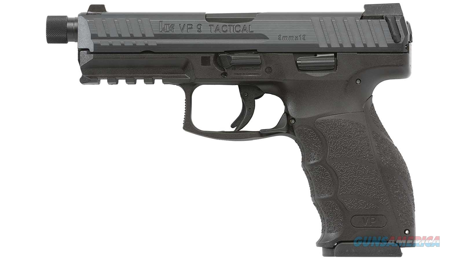 "Heckler & Koch Vp9 Tactical 9Mm Threaded 4.70"" Front Ns Only 3-10Rd Blk 700009TLEL-A5  Guns > Pistols > H Misc Pistols"