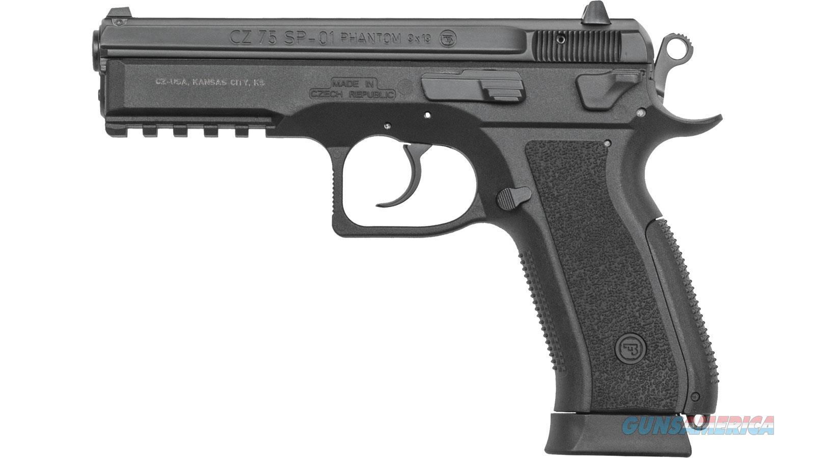 Cz Usa 75 Sp-01 Phantom 9Mm Fs 18-Shot Black Polymer 91258  Guns > Pistols > C Misc Pistols