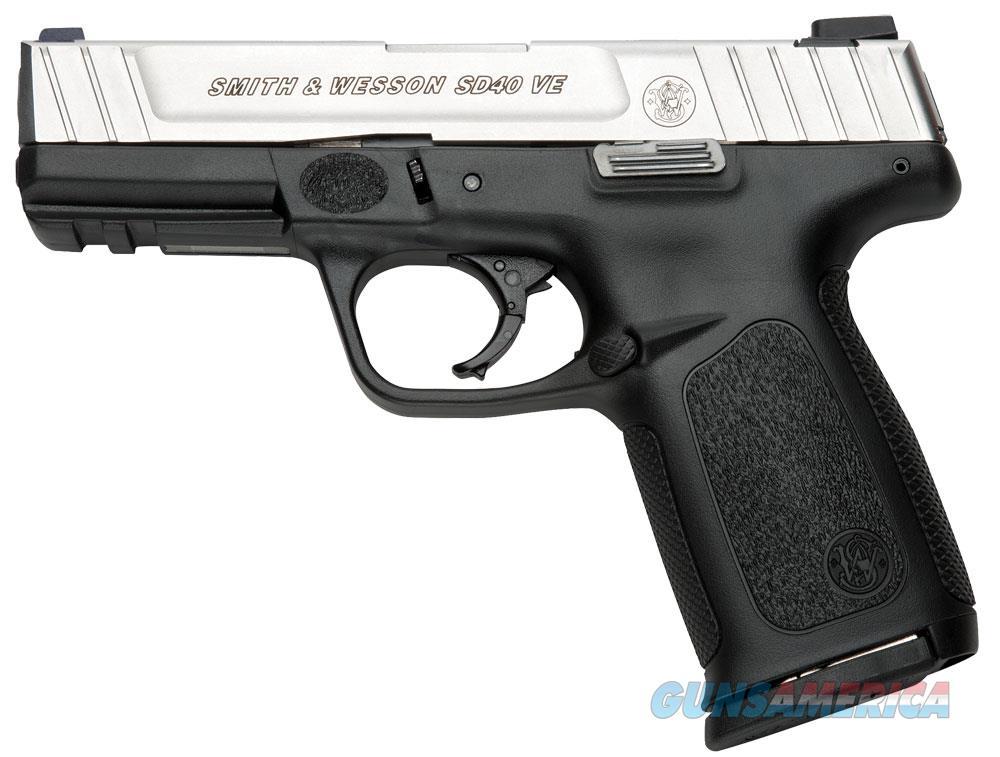 Smith & Wesson Sd40 Ve Semi Auto Pistol 40 , 4 In, Poly Grp, 10+1 Rnd, Blk Frame, Self Defense Trgr 123403  Guns > Pistols > S Misc Pistols