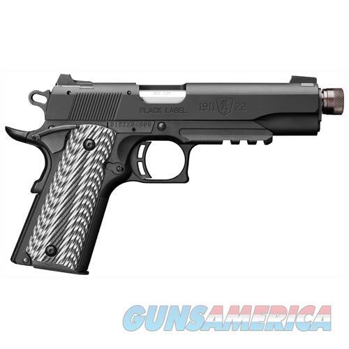 "Browning 1911-22 Supressor Ready .22Lr 4.87"" Fs M.Black G10 051820490  Guns > Pistols > B Misc Pistols"