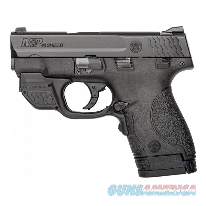 "Smith & Wesson 10147 M&P 40 Shield With Crimson Trace Green Laserguard Double 40 Smith & Wesson (S&W) 3.1"" 6+1/7+1 Black Polymer Grip Black Stainless Steel 10147  Guns > Pistols > S Misc Pistols"