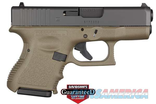 GLOCK 10 + 1 ROUND DOUBLE ACTION ONLY 9MM W/FIXED SIGHTS & OLIVE DRAB FINISH PI2657201 PI2657201  Guns > Pistols > G Misc Pistols