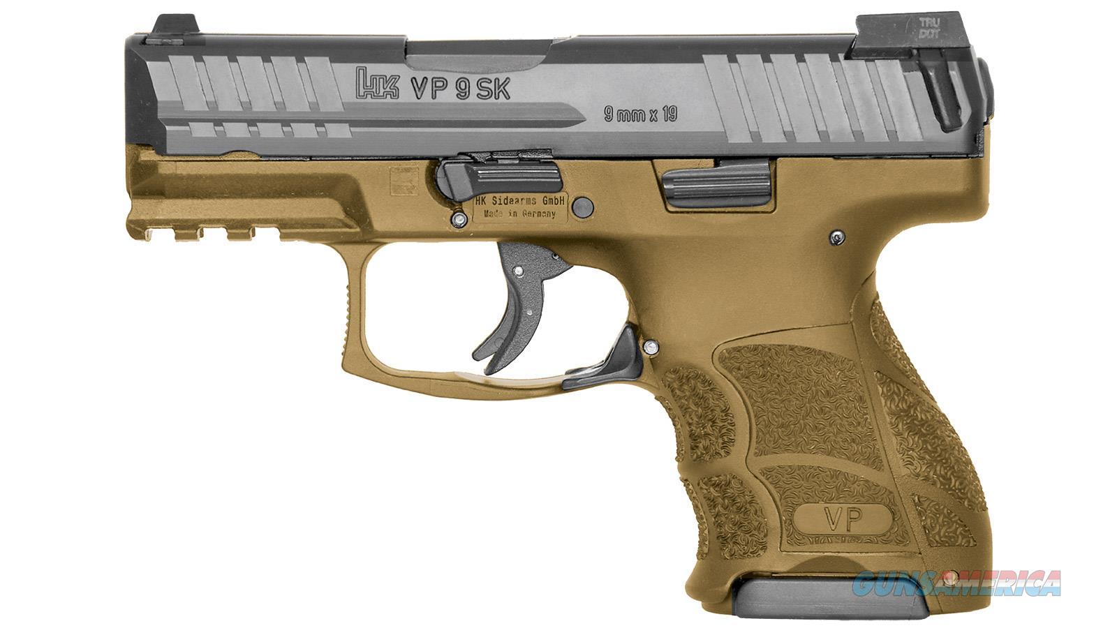 """Heckler & Koch Vp9sk Striker Fired 9Mm 3.39"""" Bbl 3-Dot Ns 3-10Rd Fde 81000096  Guns > Pistols > H Misc Pistols"""