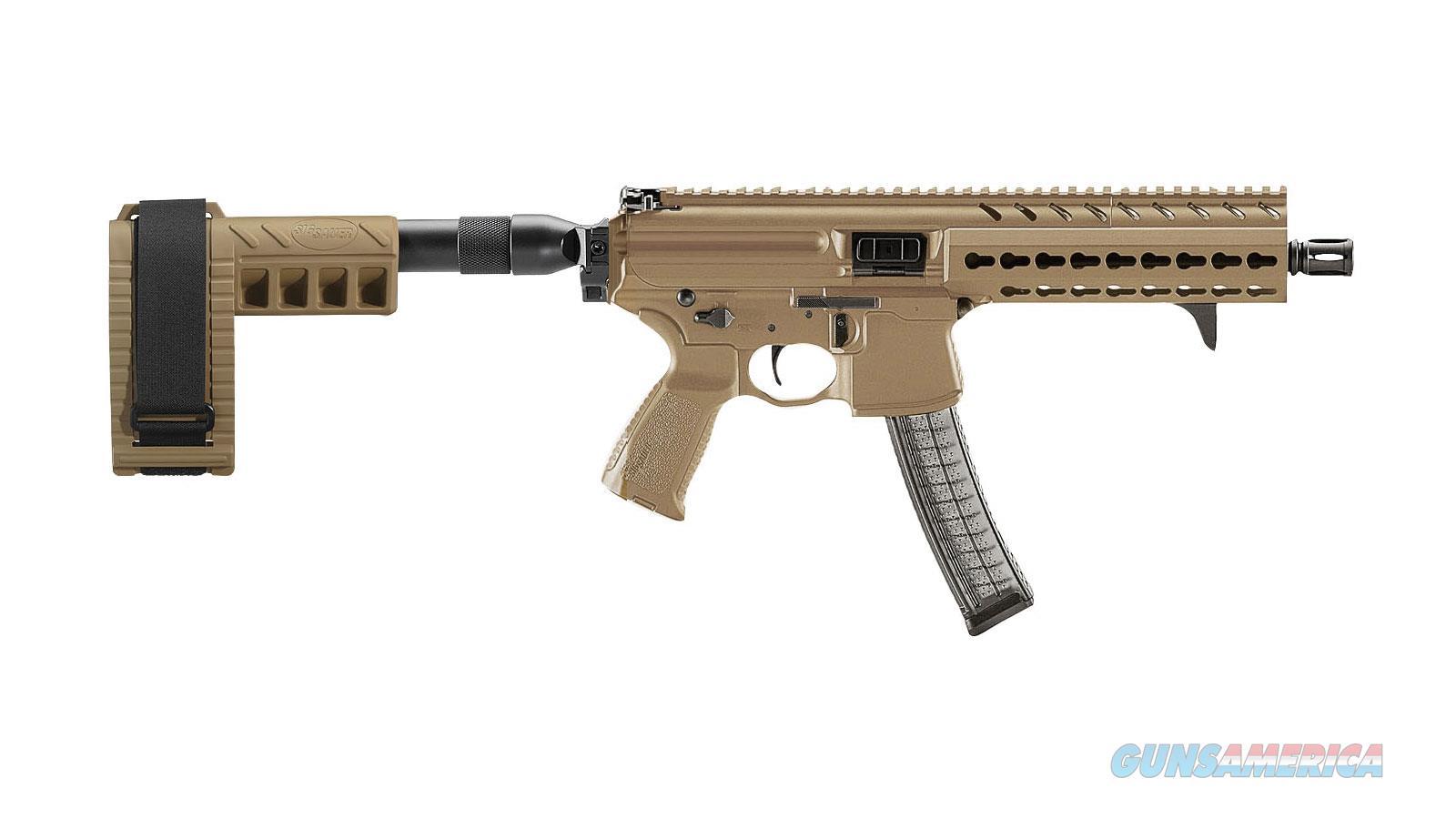 "Sig Sauer Mpx Psb 9Mm 8"" 30Rd MPX-P-9-KM-PSB-FDE  Guns > Pistols > S Misc Pistols"
