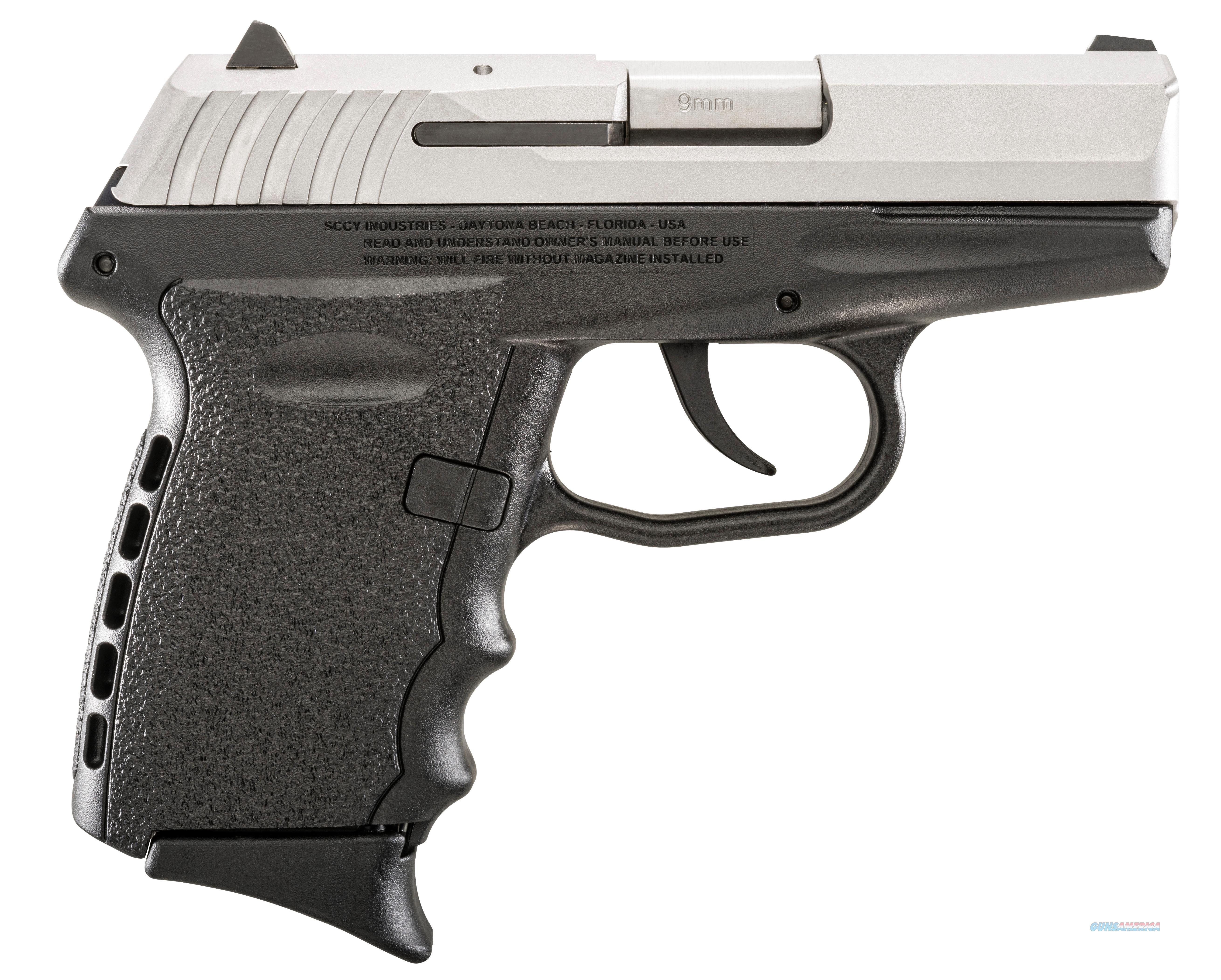Sccy Industries Cpx2-Tt Pistol Dao 9Mm 10Rd Ss/Black W/O Safety CPX2-TT  Guns > Pistols > S Misc Pistols