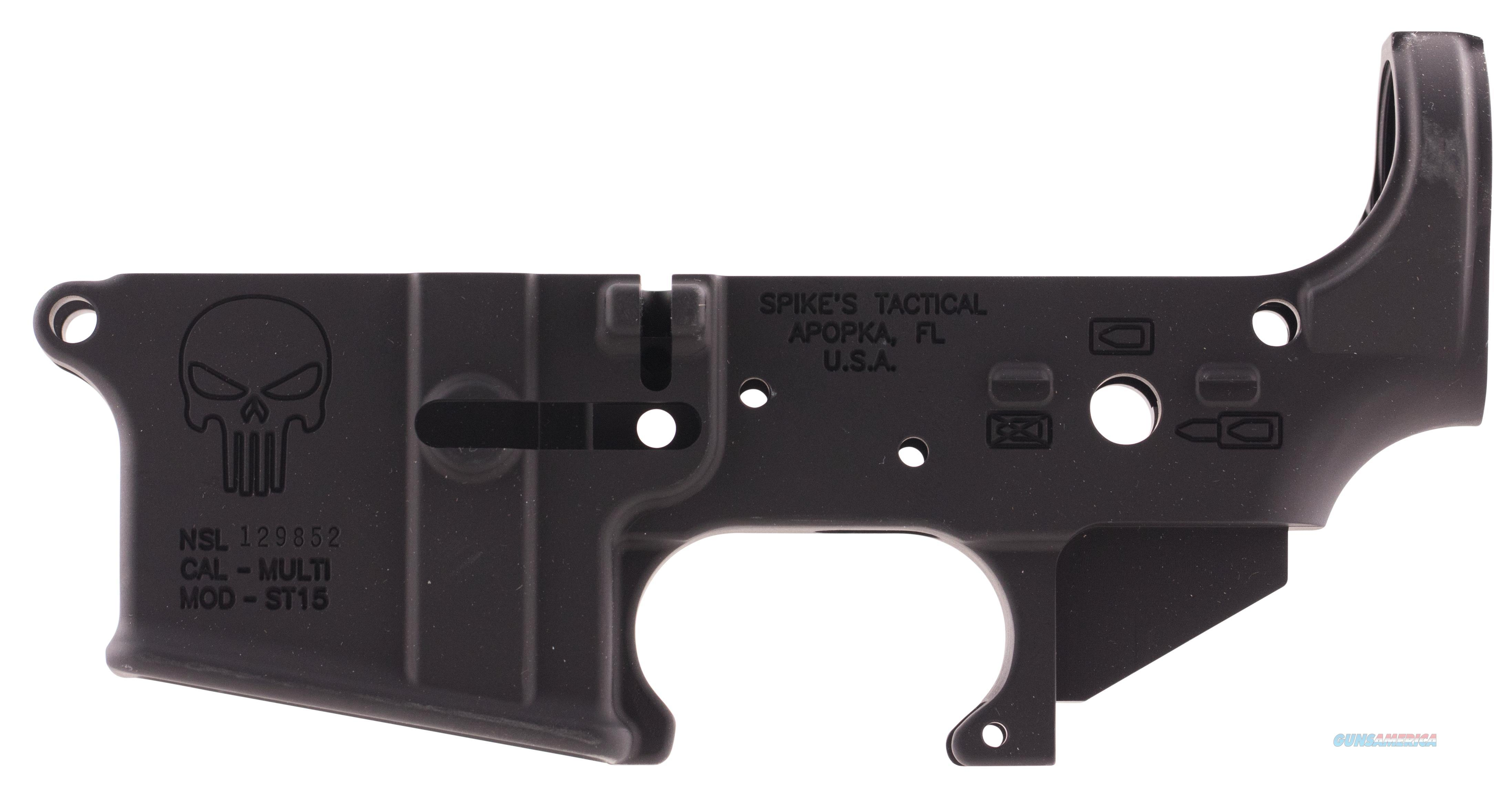 Spikes Stls015 Stripped Lower Punisher Ar-15 Multi-Caliber Black Hardcoat Anodized STLS015  Guns > Rifles > S Misc Rifles