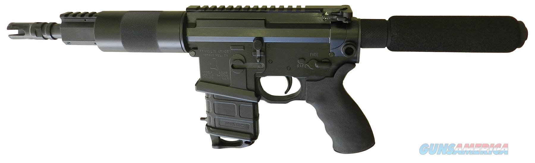"""Franklin 3094Ca Salus *Ca Appr* Ar Pistol Sa 5.56 Nato 7.5"""" 1Rd Syn Grip Blk 3094CA  Guns > Pistols > F Misc Pistols"""