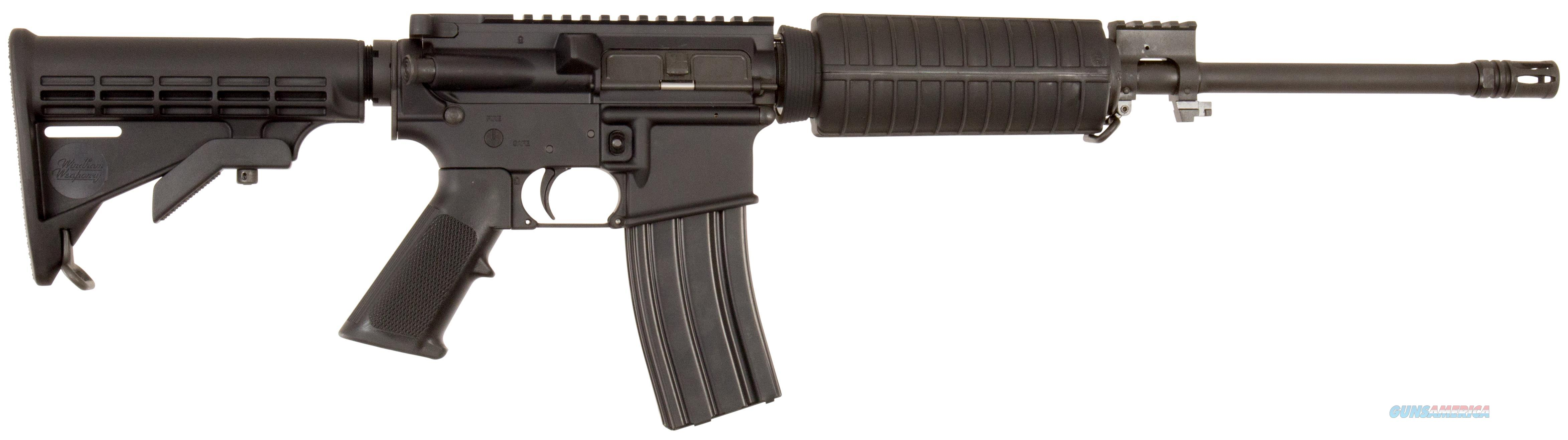 "Windham Weaponry R16ftt300 Src Semi-Automatic 300 Aac Blackout/Whisper (7.62X35mm) 16"" 30+1 6-Position Black Stk Black Hard Coat Anodized/Black Phosphate R16FTT-300  Guns > Rifles > Windham Weaponry Rifles"