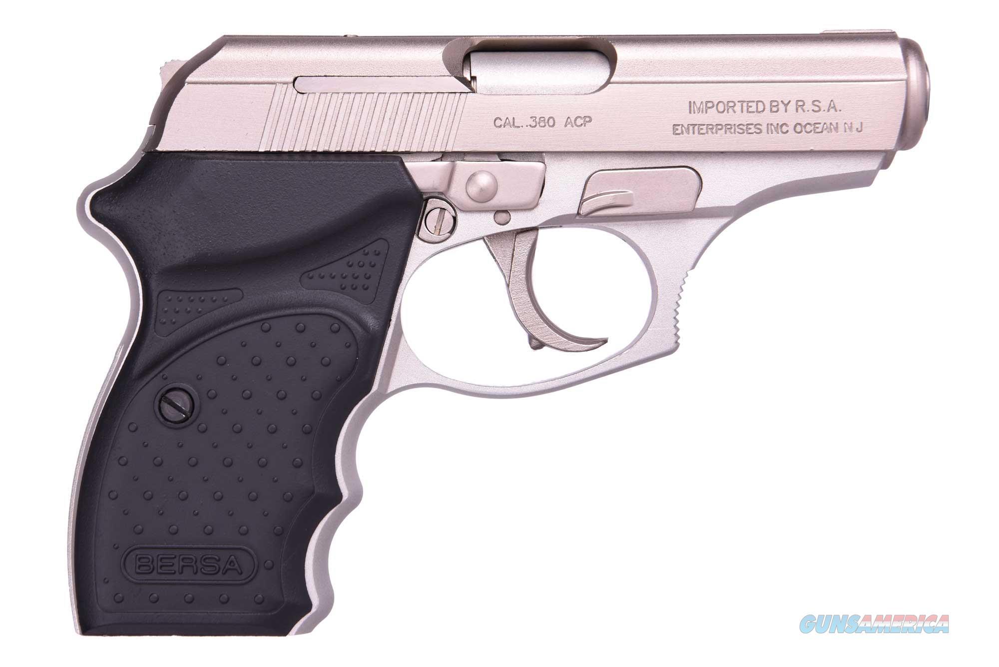 Thunder 380 Nickel 380Acp Cc THUN380NKLCC  Guns > Pistols > Bersa Pistols