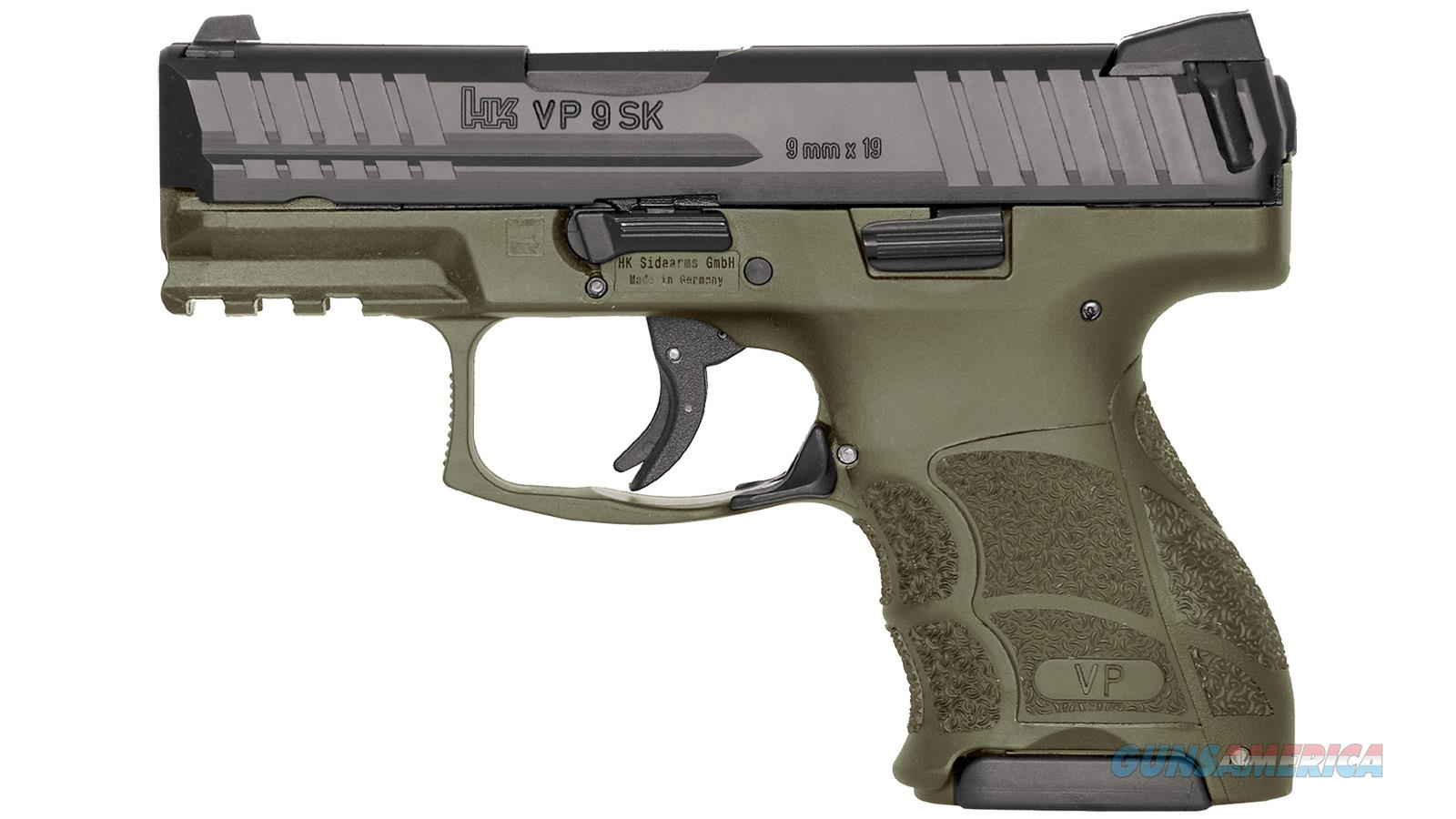 "Heckler & Koch Vp9sk 9X19 3.39"" Odg 3-D Luminous   2/10 81000097  Guns > Pistols > H Misc Pistols"