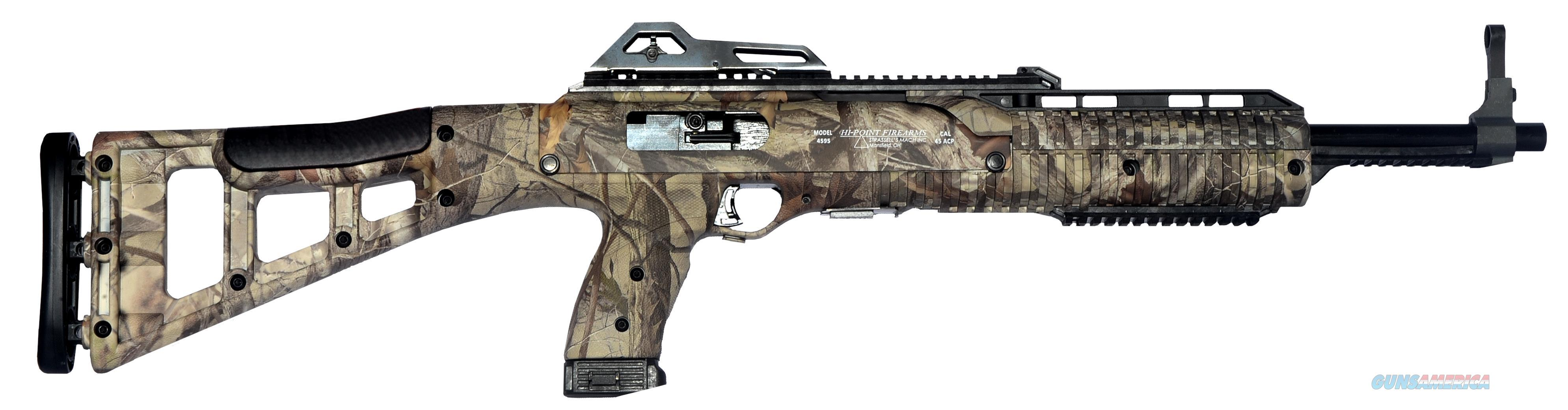 "Hi-Point 4595Tswc 4595Ts Carbine Semi-Automatic 45 Automatic Colt Pistol (Acp) 17.5"" 9+1 Polymer Skeleton Woodland Camo Stk Black 4595TS WC  Guns > Rifles > H Misc Rifles"