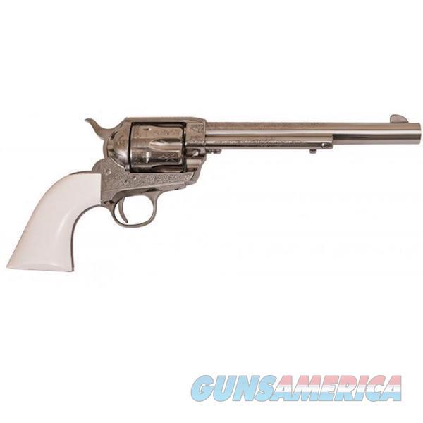 "Cimarron Firearms Frontier .45Lc Pw Fs 7.5"" Engraved Nickel/Ivory PP415LNI  Guns > Pistols > C Misc Pistols"