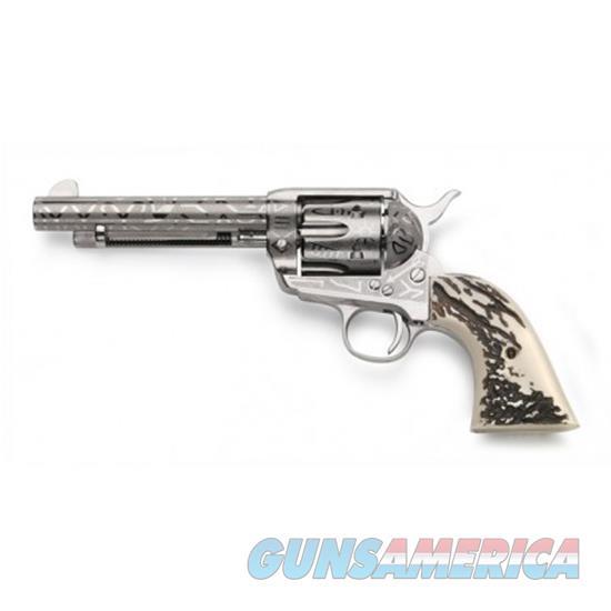 Taylor's & Co Pietta 1873 Cattle Br Stag Grip 5.5 .357Mag OG1407  Guns > Pistols > TU Misc Pistols