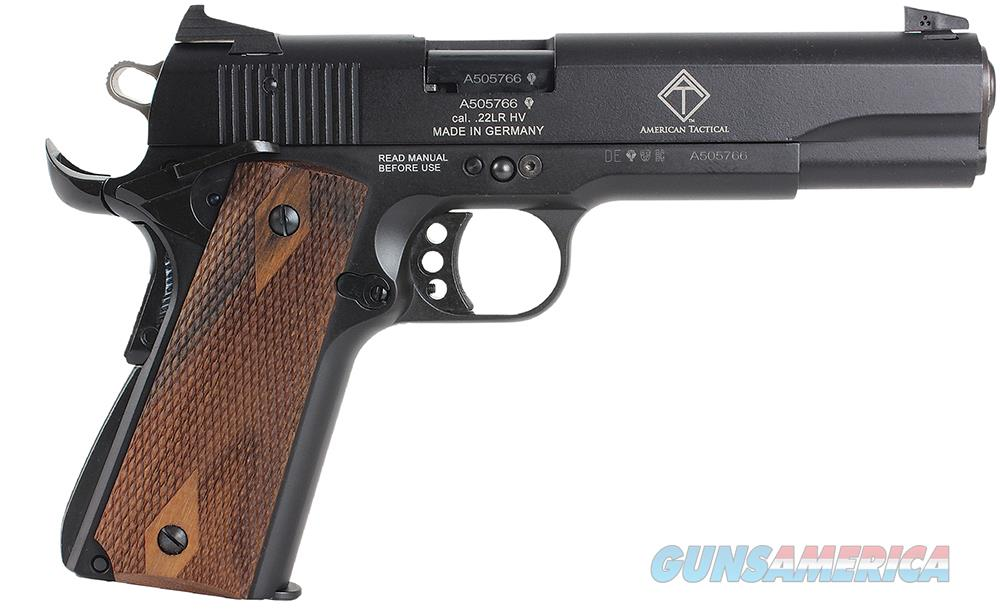 "Gsg German Sports Guns 22101911Ca Gsg 1911 *Ca Compliant* Single 22 Long Rifle (Lr) 5"" 10+1 Walnut Grip Black Hardcoat Anodized Aluminum GERG2210M1911CA  Guns > Pistols > A Misc Pistols"