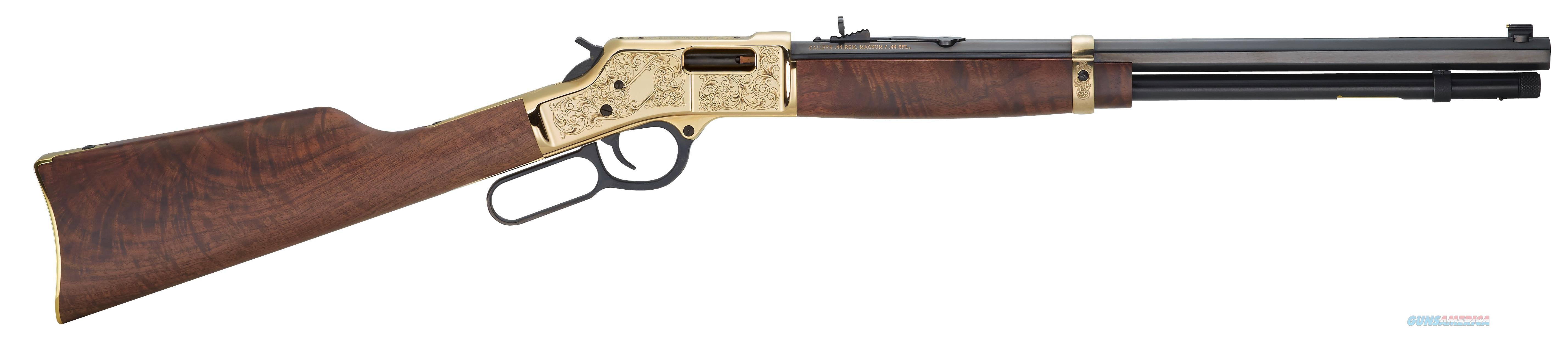 "Henry H006d3 Big Boy Deluxe Engraved 3Rd Edition 44 Magnum Lever 44 Remington Magnum 20"" 10+1 American Walnut Stk Blued Barrel/Brass Receiver H006D3  Guns > Rifles > H Misc Rifles"