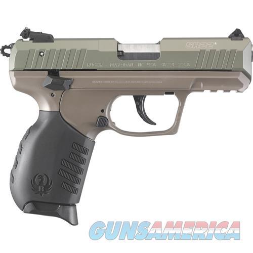 Ruger Talo Sr22p 22Lr Jgl Grn Slide Fde Frame 3641  Guns > Pistols > R Misc Pistols