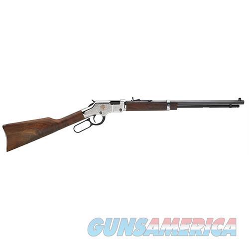 "Henry H004ab Engraved American Beauty Lever 22 Short/Long/Long Rifle 20"" 16 Lr/21 Short Walnut Stk Blued Barrel/Nickel Receiver H004AB  Guns > Rifles > H Misc Rifles"