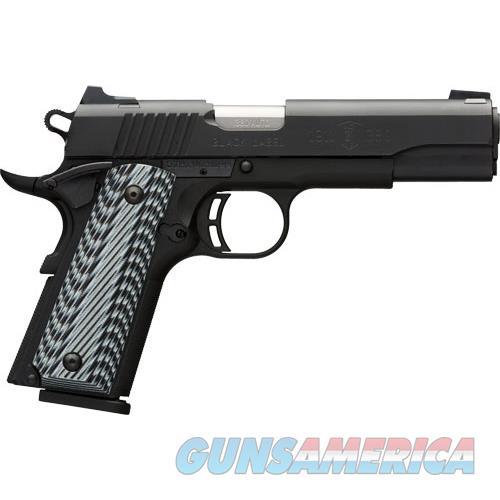 Browning Black Label Pro 1911-380 .380Acp Fns 8-Shot Black G10 051906492  Guns > Pistols > B Misc Pistols