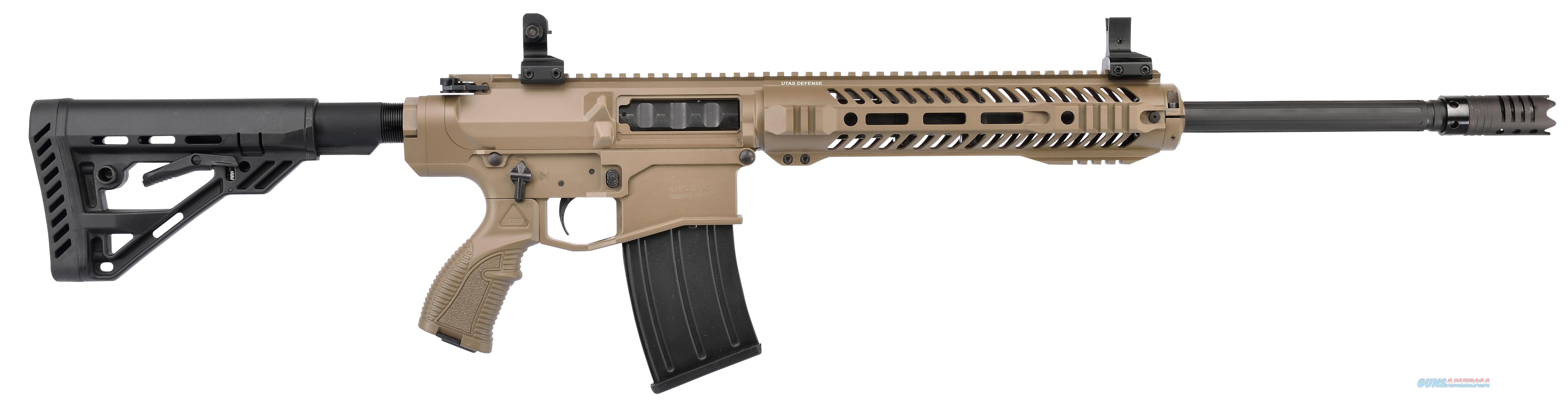 "Utas-Usa Xtr12fd1 Xtr-12 Semi-Automatic 12 Gauge 20.8"" 3"" 5+1 Synthetic Adjustable Fde Flat Dark Earth Cerakote/Black Cerakote XTR12FD1  Guns > Shotguns > TU Misc Shotguns"