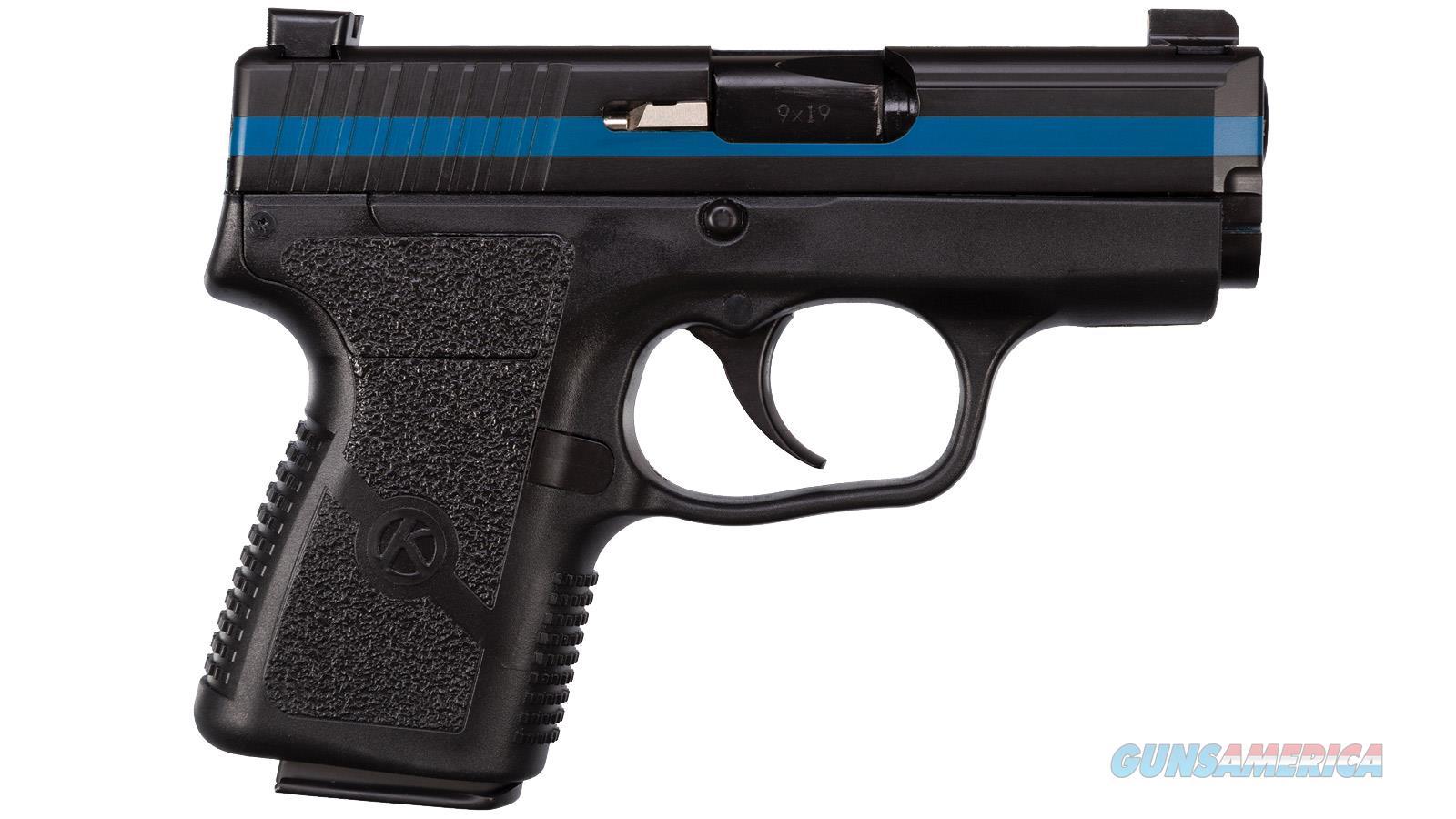 "Kahr Arms Pm9 Semi Auto Pistol 9Mm, 3.1"" Bbl Black/ Thin Blue Line 2-6 Rd 1-7 Rd Mag PM9093TBL  Guns > Rifles > K Misc Rifles"
