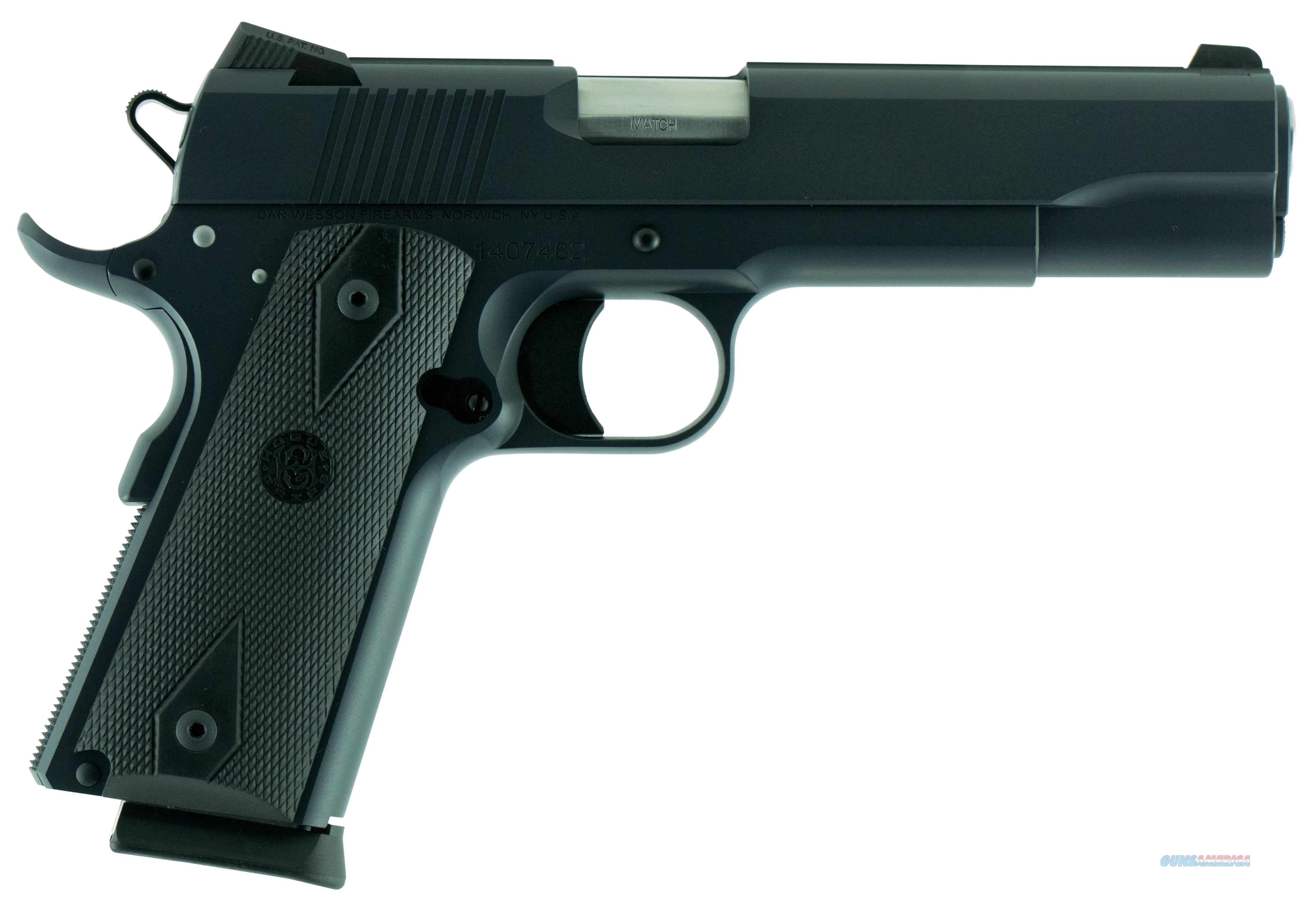 "Dan Wesson 01974 1911 Heritage Single 45 Acp 5"" 8+1 Black Hogue Grip Stainless 01974  Guns > Pistols > C Misc Pistols"