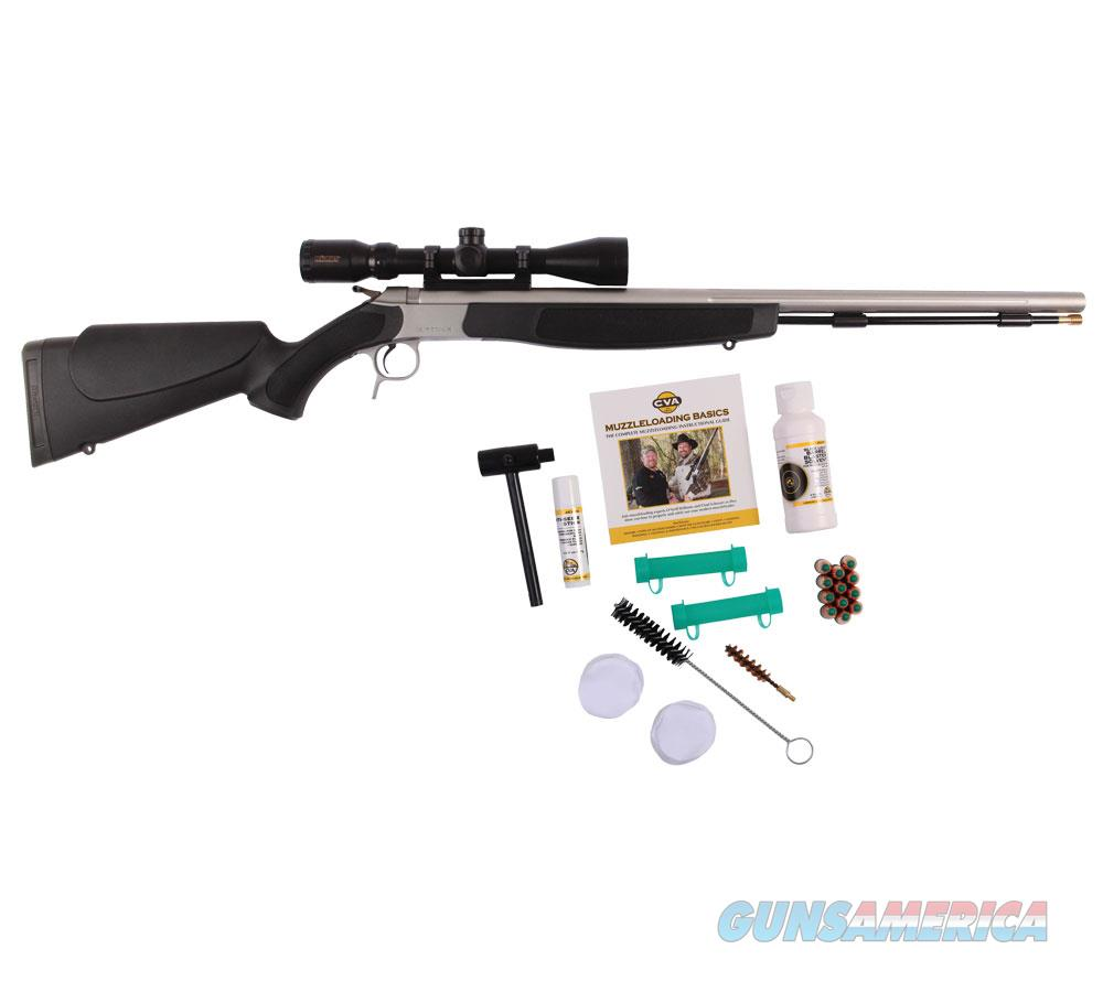 Cva Optima V2 Outfit .50 Cal. Sst/Black W/3-9X40/Accys PR2020SVPS  Guns > Rifles > C Misc Rifles
