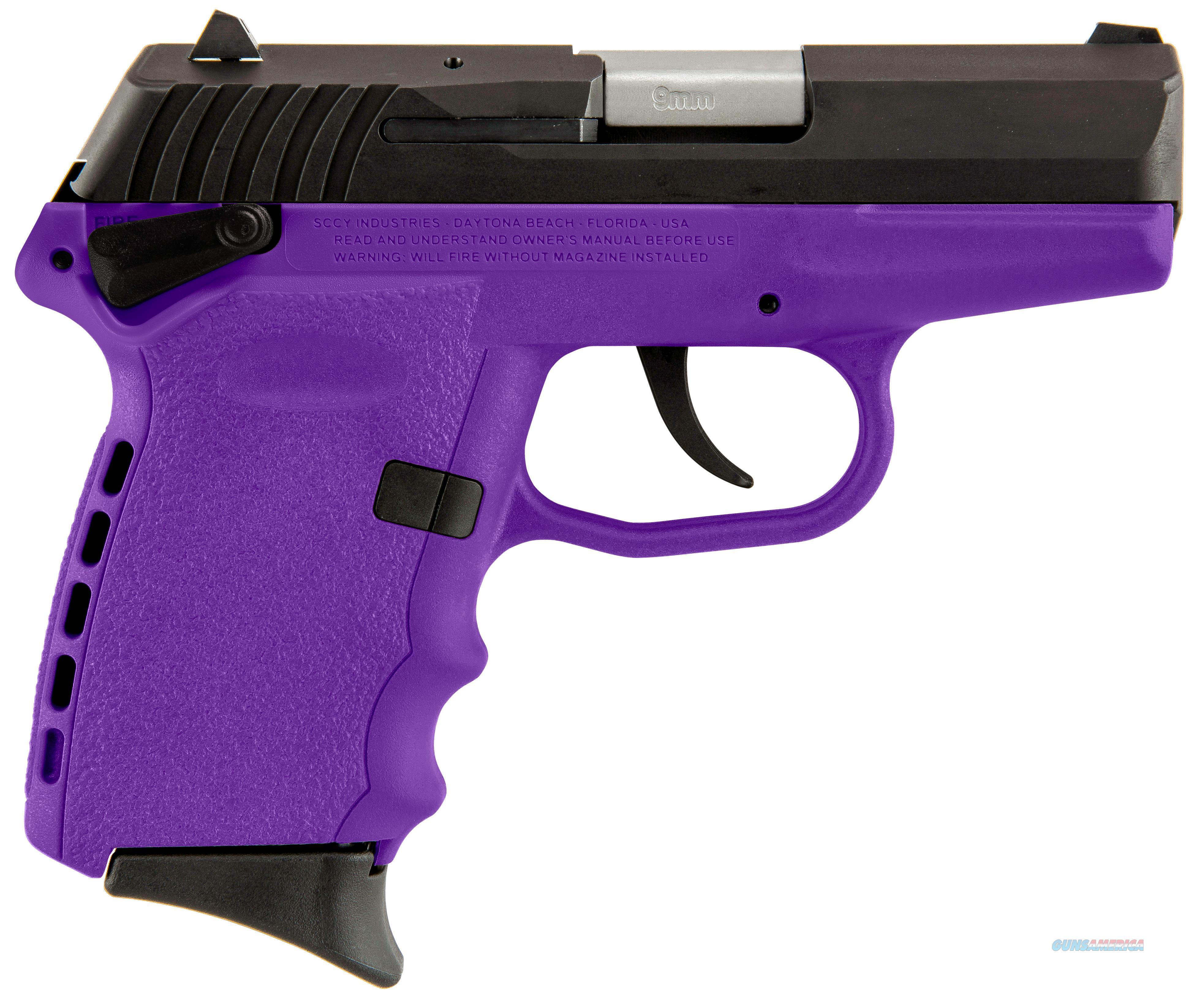 Sccy Cpx-1 Cmpu 9Mm Black/Purple (Double Sided Safety) CPX1-CBPU  Guns > Pistols > S Misc Pistols
