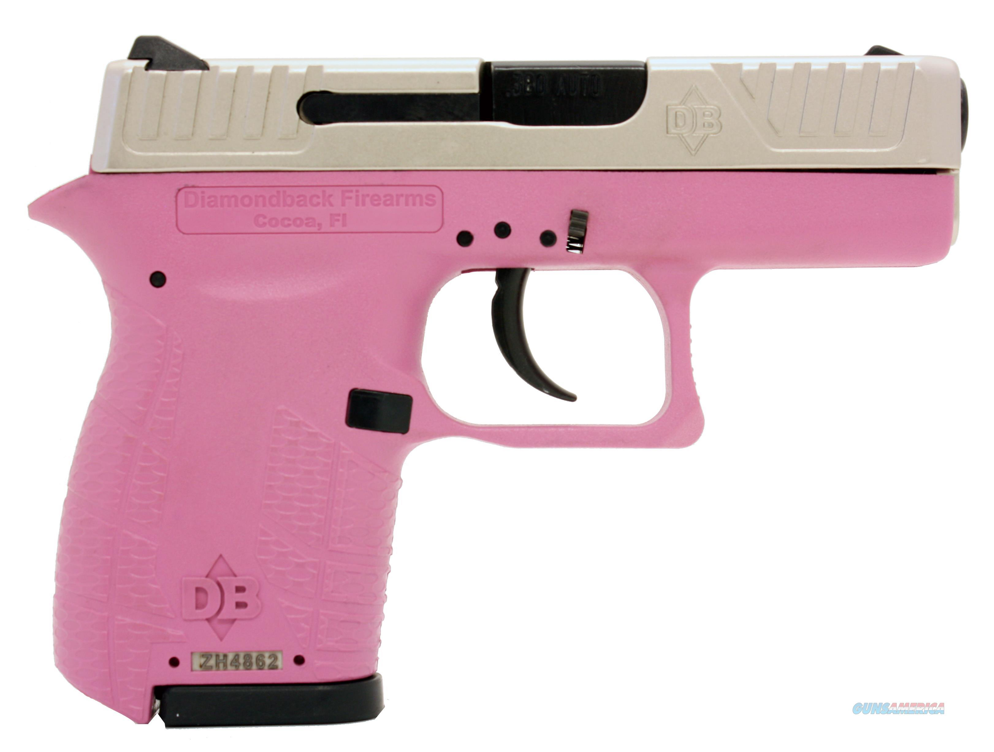 "Diamondback Db9hpex Db9 Micro-Compact Double 9Mm Luger 3"" 6+1 Pink Polymer Grip/Frame Grip Nickel Boron DB9HP/EX  Guns > Pistols > D Misc Pistols"